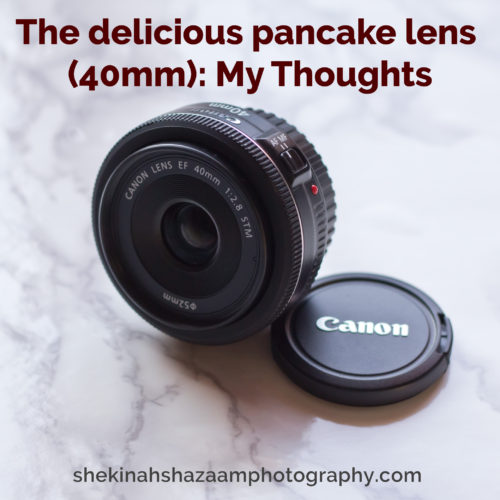 The delicious pancake lens: My Thoughts