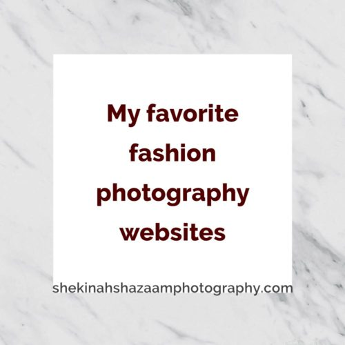 My favorite fashion photography websites