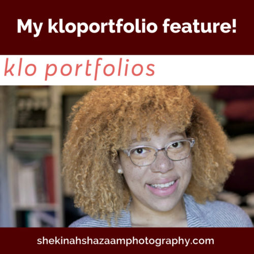 My kloportfolio feature