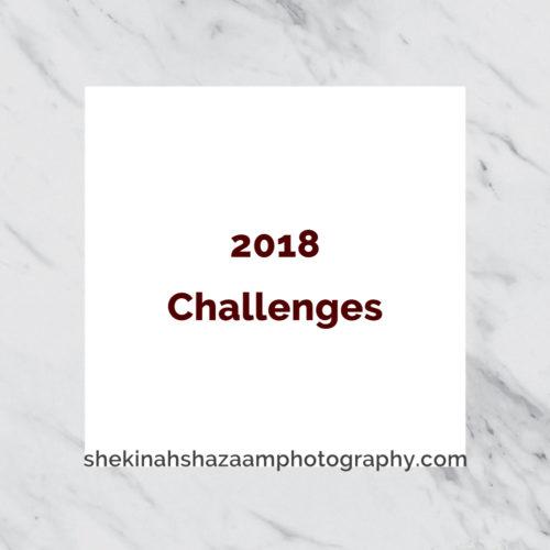 2018 Photo Challenges