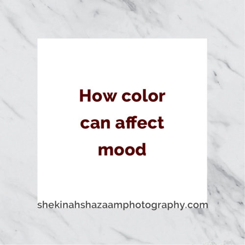 How color can affect mood