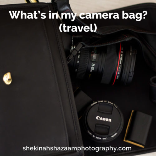 What's in my camera bag (travel)