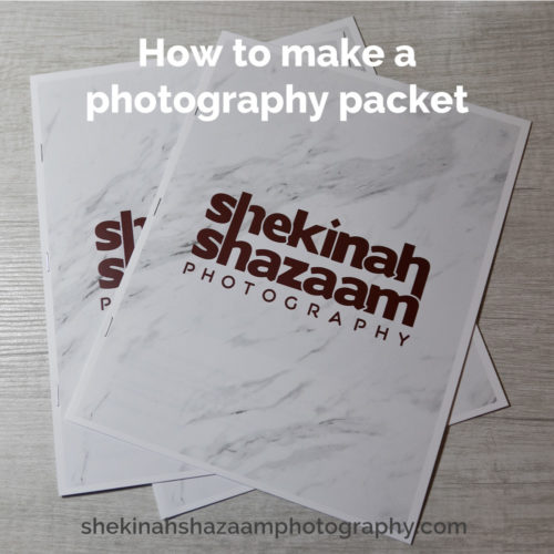 How to make a photography packet