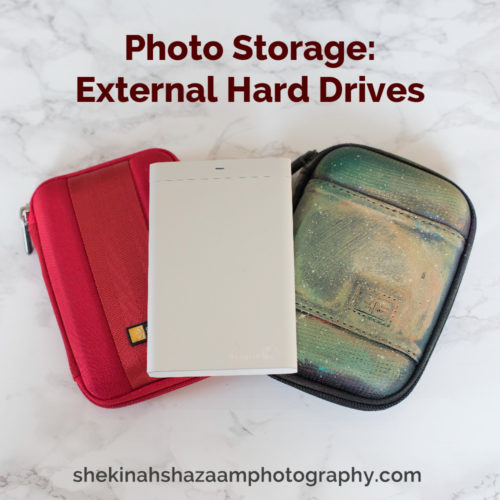 Photo storage: external hard drives