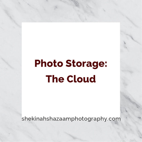 Photo storage: the cloud